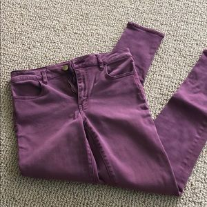 Maroon American Eagle high rise jegging jean 6